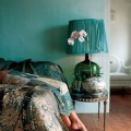 My bohemian home bedrooms and guest rooms the table and the lamp