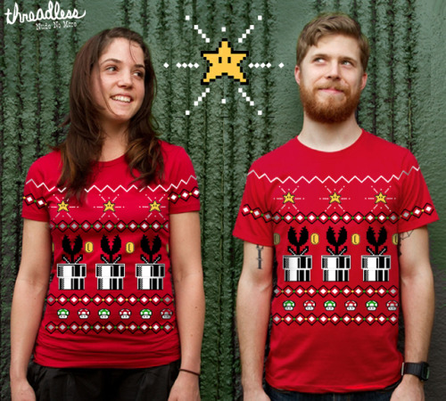 Have a very merry 8bit Christmas this year thanks to Tumblr artist Tim Shumate. His new Mario holiday shirt is now up for vote at Threadless! Deck the halls with Fireballs! by Tim Shumate (Tumblr) (Facebook) Via: timshumateillustrations