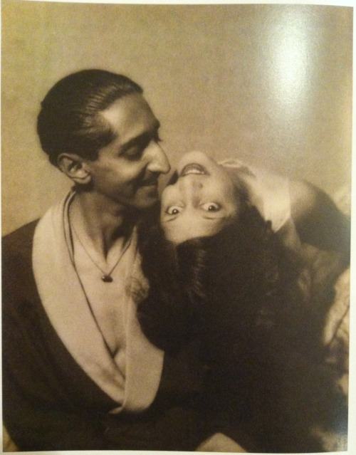 jeevermadness:  Maharaja Yeshwant Rao Holkar II and Maharani Sanyogita Devi of Indore, Photographed by Man Ray in Cannes, France, C. 1930. Today I toured Maharaja: The Splendor of India's Royal Courts, an incredible exhibit at the San Francisco Asian Art Museum. I'll post more extensively about the exhibit, but I had to share this incredible photograph.