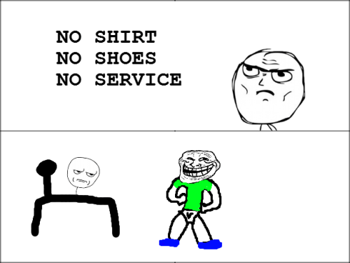Troll Face Comic - No Service  Submitted by trolololologuy