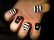 nail art idea chanel nails