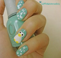 Hello my pretties  - Cute Penguin Nails These penguin ...