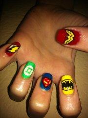 superhero nail art lovesac
