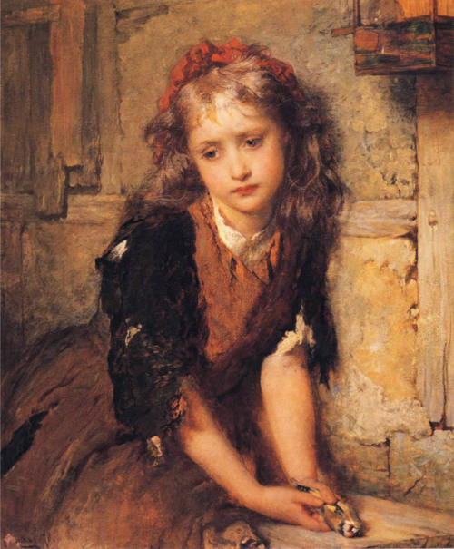 jaded-mandarin:George Elgar Hicks (1824-1914)The Dead Goldfinchoil on canvas