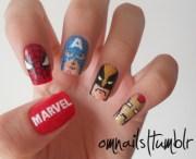 marvel heroes nail art feminine