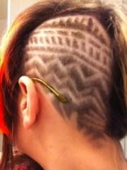 tribal hair design messqueen