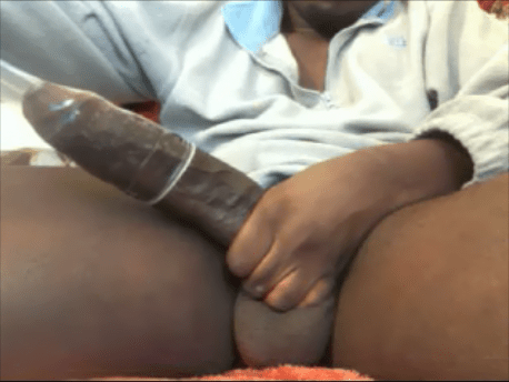 ribbed condom on cock