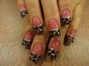 cheetah nail design