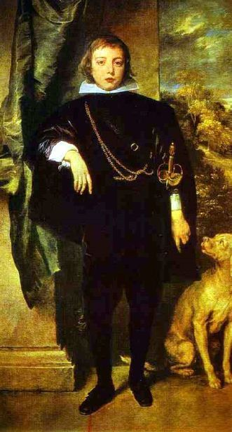 Prince Rupert as a boy by Sir Anthony van Dyck