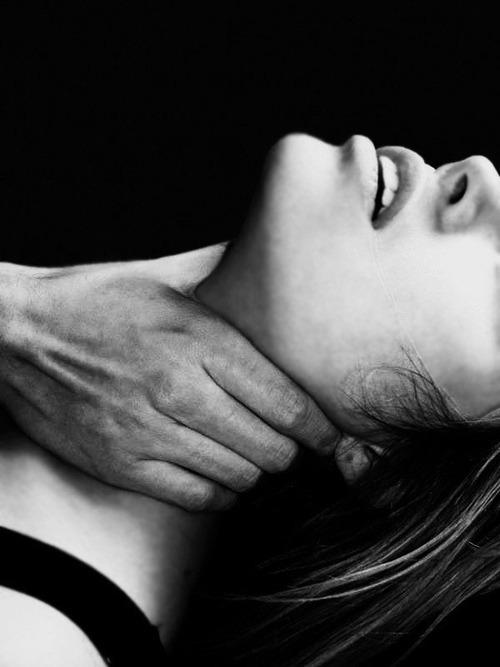 Hand around throat sex