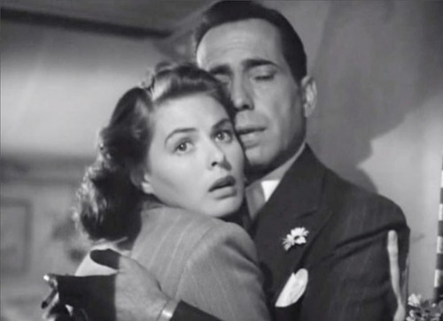Ingrid Bergman e Humphrey Bogart em Casablanca (Michael Curtiz, 1942)
