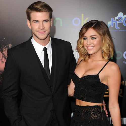 "Miley and Liam at ""The Hunger Games"" Premier"