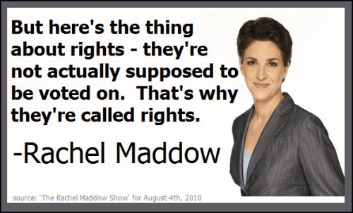 Rachel Maddow on rights
