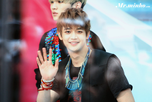 Handsome Minho @ Mnet Wide Entertainment News Open Studio 120329  Credit: mrminho