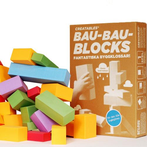 Bau-Bau-blocks från det fantastiska företaget Creatables i Göteborg, som tillverkar sina produkter med spillmaterial från industriproduktion - design och miljötänk i ett, kan ju inte bli bättre! Först till kvarn på www.bamarang.se