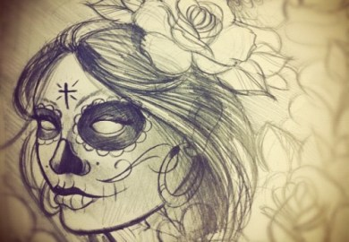 Tattoos For Girls Skulls