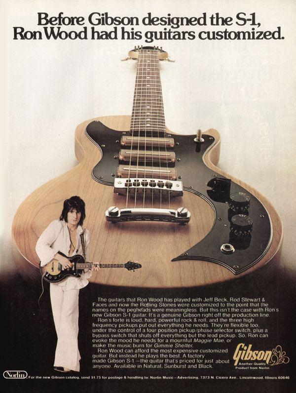 "Gibson S-1- ""Ron Wood"" Advert 1977"