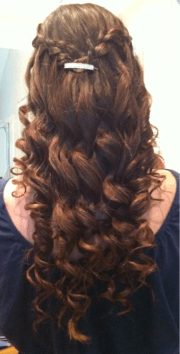 curled hairstyles prom