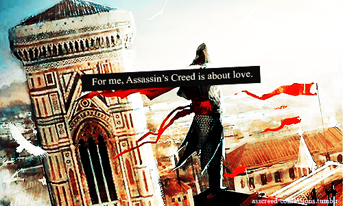 Without it Altair is weak, aggressive, he costantly seeks approval and clings to everyone within his reach (Al Mualim, a father figure then Adha, idealized object of fatuous affection).Caring and support that he gets from Malik and Maria help him become a true leader and regain inner balance. They mean a world to him. He needs them desperatly and their death drives him into deep depression.Think for a moment about hours or even days that Altair spent in the library alone, waiting, no longer motivated by his duty, determined to die.This was the message conveyed through the Masyaf Keys. Ezio understood it after watching Altair's memories. He finally decided to lay down his sword and declare his feelings to Sofia.