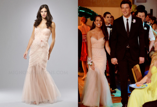 leamichelesfashion:</p> <p>Rachel's Prom Dress was slightly adapted from this!<br /> Blossom Layered Organza Strapless Sweetheart Mermaid Prom Dress - $398.00<br />