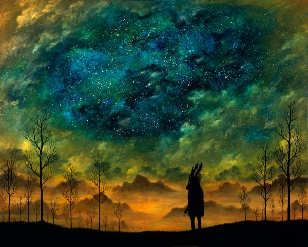 Illustration Art Wolf Goblin Painting Trees Clouds Forest Spirit Stag Andy Kehoe Theartofanimation