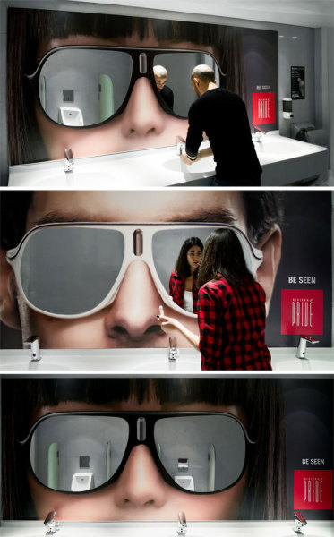 Bathroom Mirror That Looks Like A Pair of Shades