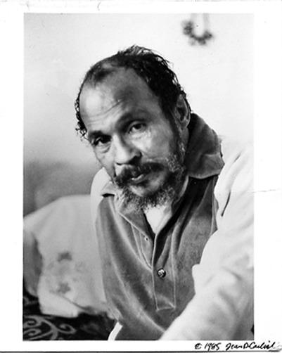 Bob Kaufman, 1985 (photograph copyright Jean D Carlisle)