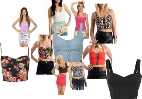 Cropped Corset Collage by thehautebunny featuring cropped shirtsCropped shirt, $60Topshop cropped shirt, $48Strapless top, $31Top, $30Crop top, $23Bustier top, £15floral bustier, $28crochet bustier, $27zip-up bustier, $23leopard print bustier, $23cheetah print cropped zip up corset