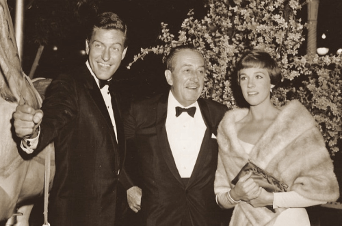 Dick Van Dyke, Walt Disney, Julie Andrews