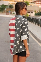 american flag america street sunglasses usa clothing shoes woman