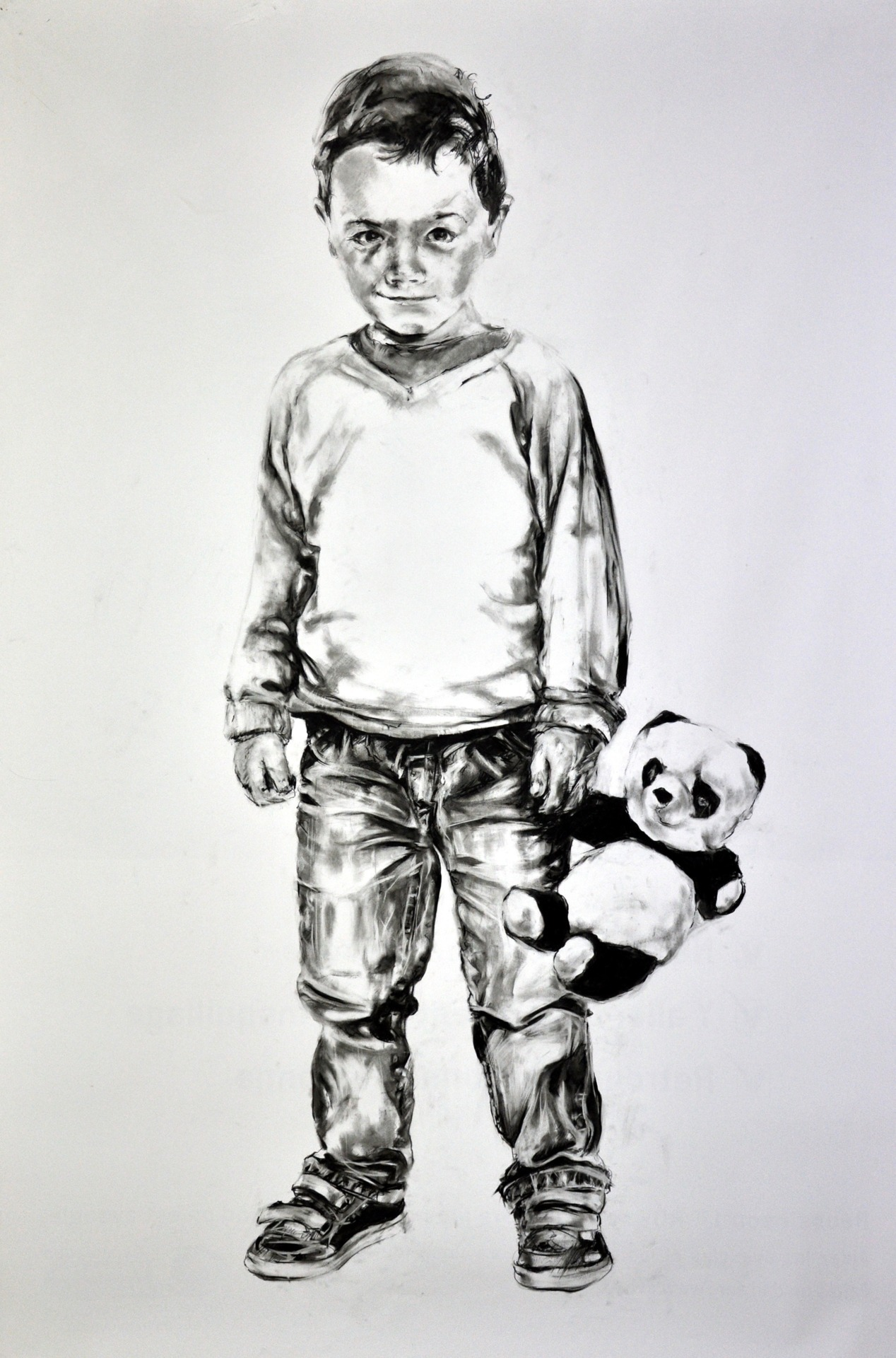 Frank Rannou, 'Marceau', Pencil on paper