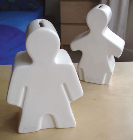 His & Hers Moneyboxes