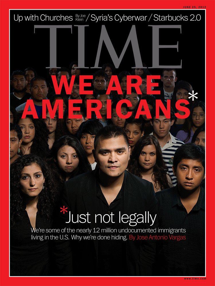 timemagazine:  One year ago, Jose Antonio Vargas publicly revealed he's an undocumented immigrant. In the latest issue of TIME which will hit newsstands Friday, Vargas reports on life in citizenship limbo, and how others are 'coming out.' Read the cover story here. (Photograph by Gian Paul Lozza for TIME)