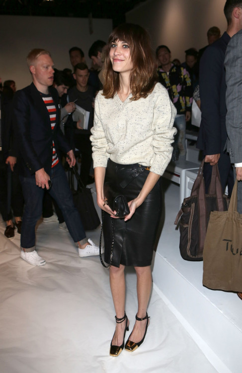 alexastyle:Alexa Chung on the front row for the Martine Rose Spring/Summer 13 collection at The Hospital Club on June 15, 2012 in London, England.