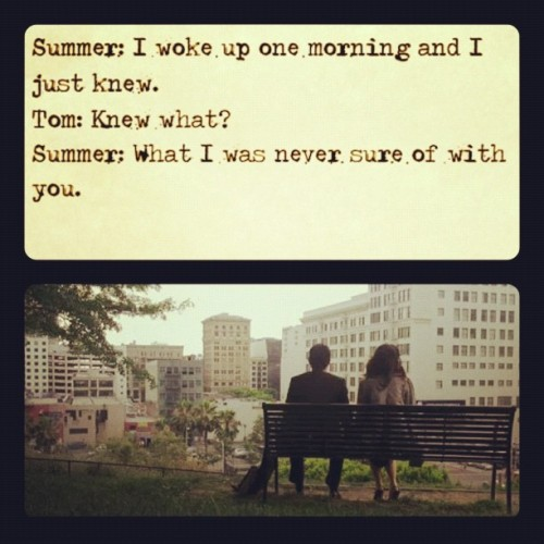 Image result for 500 days of summer what i was never sure of with you