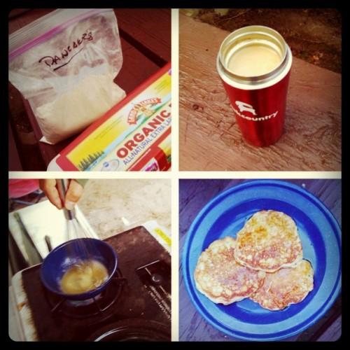 camping menus, camping breakfast, pancakes