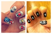 nail art design toothpicks