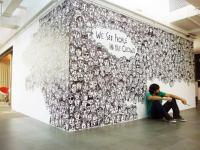 art Installation doodle mural portraits Guilherme Kramer ...