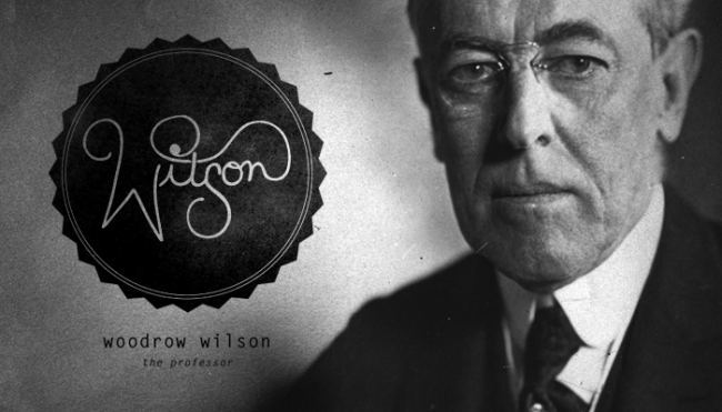 """Twenty Eighth President: Woodrow Wilson (1913-1921)<br /> Hand-drawn Type & Letter Gothic</p> <p>Woodrow Wilson was known as """"the schoolmaster"""" and """"the professor"""" for his ability and tendency to teach his guests like a professor would. People also called him """"the phrasemaker"""" because of his amazing way with words and speech writing ability.<br />"""