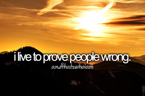 prove wrong