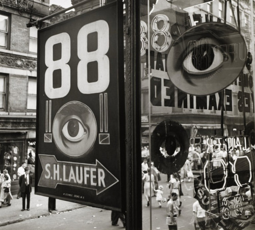 WILLIAM WITT The Eye, Lower East Side, NYC, 1948  gelatin silver print, 10 3/4 x 12 inches