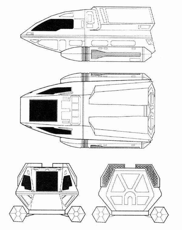 Starfleet ships • Type 6 shuttlecraft schematics