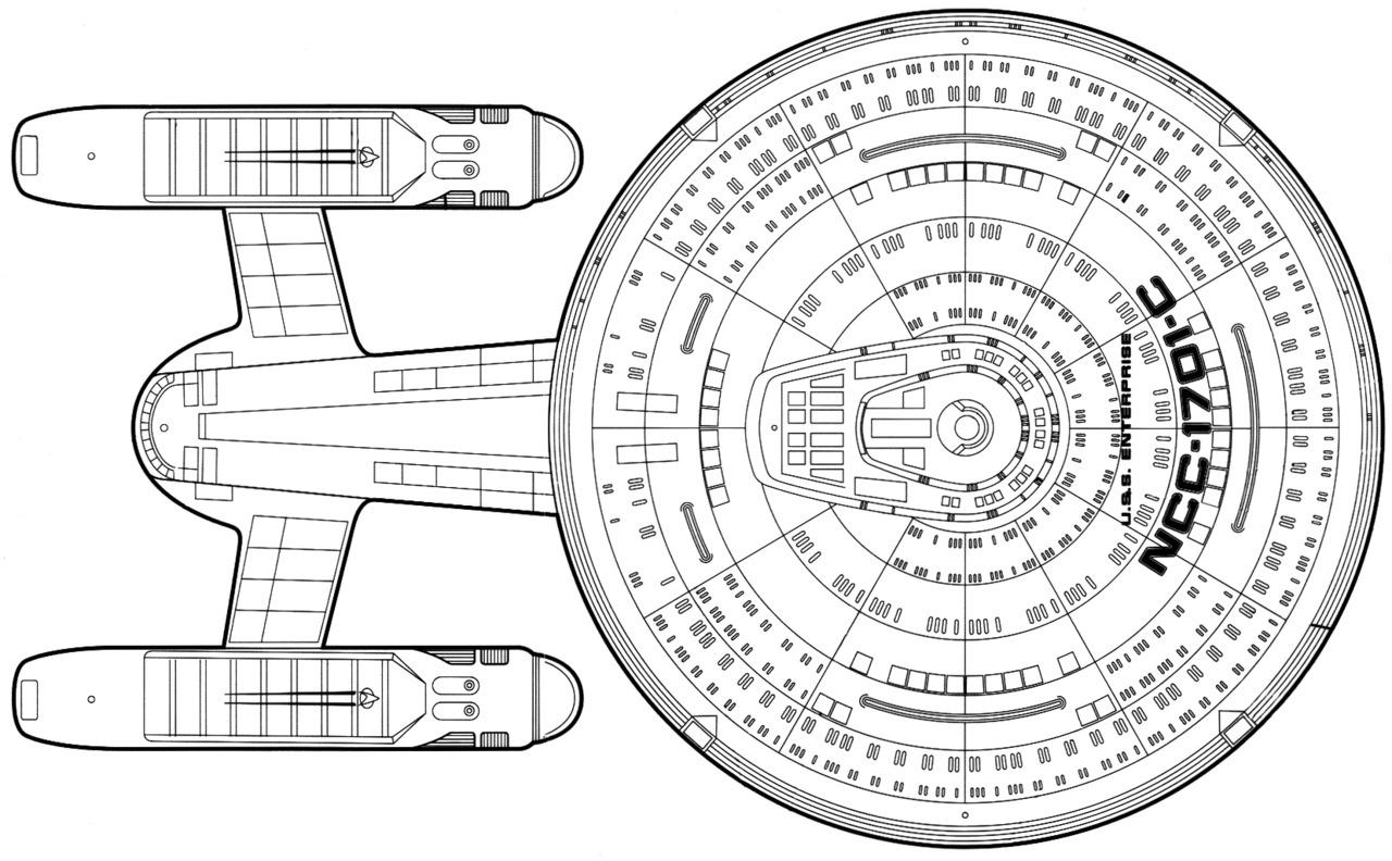 Starfleet Ships Ambassador Class Enterprise C Dorsal