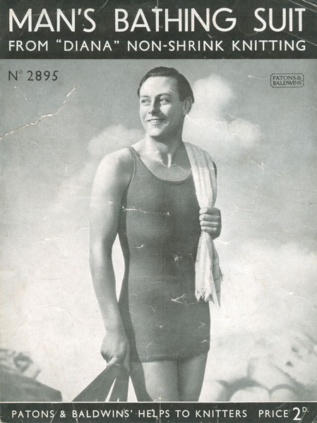 Advertisement for Man's Bathing Suit (1930s)<br /><br /><br /><br /> Source: Superhero Underpants