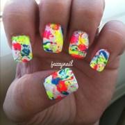 cute neon nail design