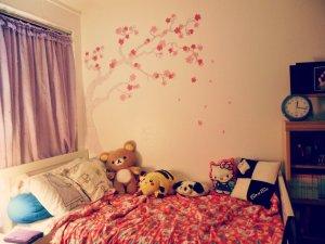 kawaii rooms bed bedroom wall super decor asian bd pretty