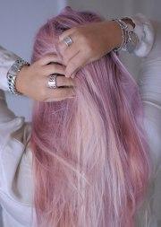 pretty pink purple hair pastel