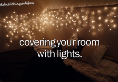 Christmas Lights In Bedroom Tumblr