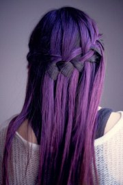 purple hair dyed hairstyle
