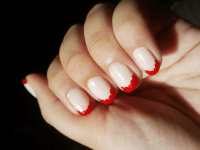 hailstothenails: Scallop French Tip Nails A way... | fuck ...
